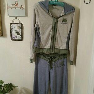 Joe Boxer hooded jacket & drawstring pants, Sz Med